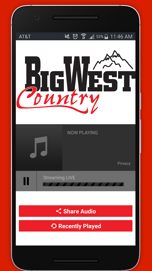 Big West Country 92.9FM- screenshot