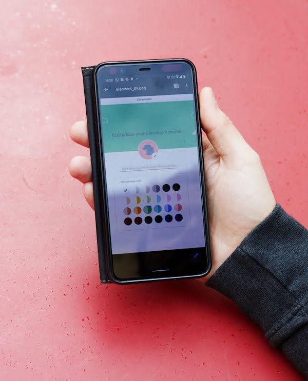So sehen die neuen Chrome-Profile auf dem Smartphone von David Roger aus
