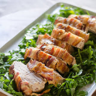 Honey-Mustard Pork Roast with Bacon.