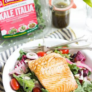 Summer Salmon Salad with Basil Vinaigrette