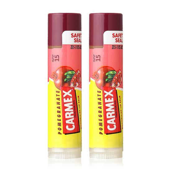 2. Carmex Moisturizing Lip Balm SPF15 - Pomegranate