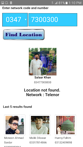 Trace Mobile Number in Pakistan App Report on Mobile Action
