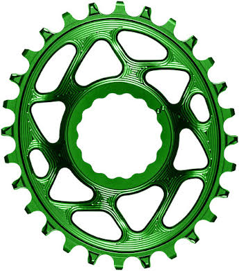 Absolute Black Oval Narrow-Wide Direct Mount Chainring - CINCH Direct Mount, 3mm Offset, Colored  alternate image 12