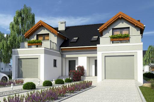 projekt Magda trend z garażem 2-st. bliźniak A-BL