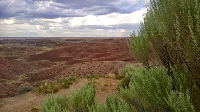 Photo: August 11-Though I debated if I had enough energy left in me, I decided to veer south to go through the Painted Desert and Petrified Forest National Park.  I was tired by the end, but I didn't regret it.