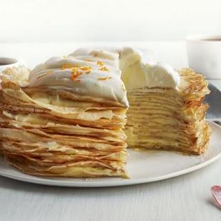 Creamsicle Crepe Cake