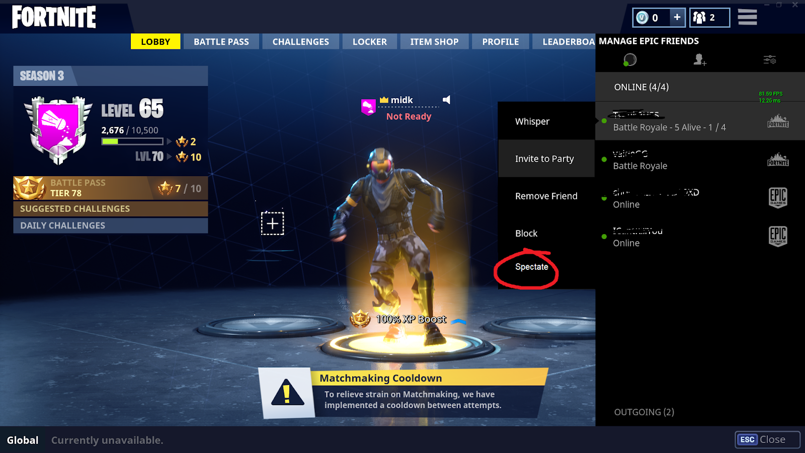 How to spectate in Fortnite
