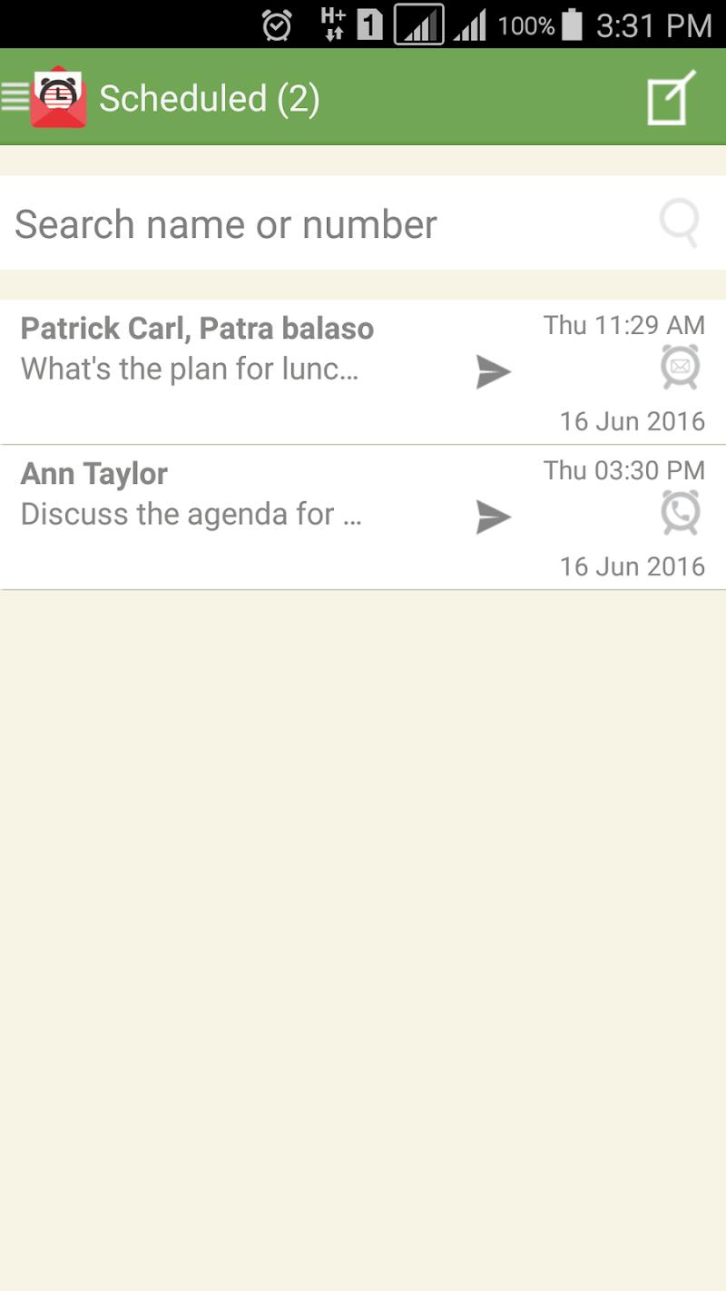 SMS-Call Scheduler Pro Screenshot 1