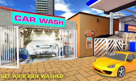 Modern Gas Station : Highway Car wash Service - náhled