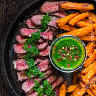 Grill Steaked with Chimichurri Recipe