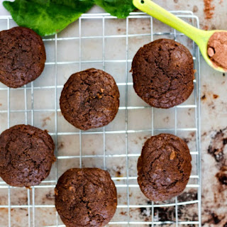 Kid Approved Cacao and Spinach Muffins.