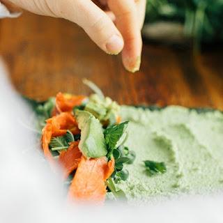Nori Rolls with Edamame Wasabi Spread Recipe