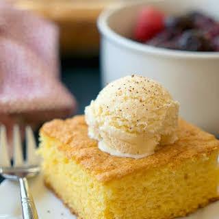 Egg Nog Pudding Cake.