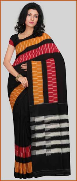Photo: Orange Mangalagiri Handloom Cotton Saree with Blouse  Itemcode: SPN549  Price: US$ 99.60  Click @ http://www.utsavfashion.com/store/sarees-large.aspx?icode=SPN549
