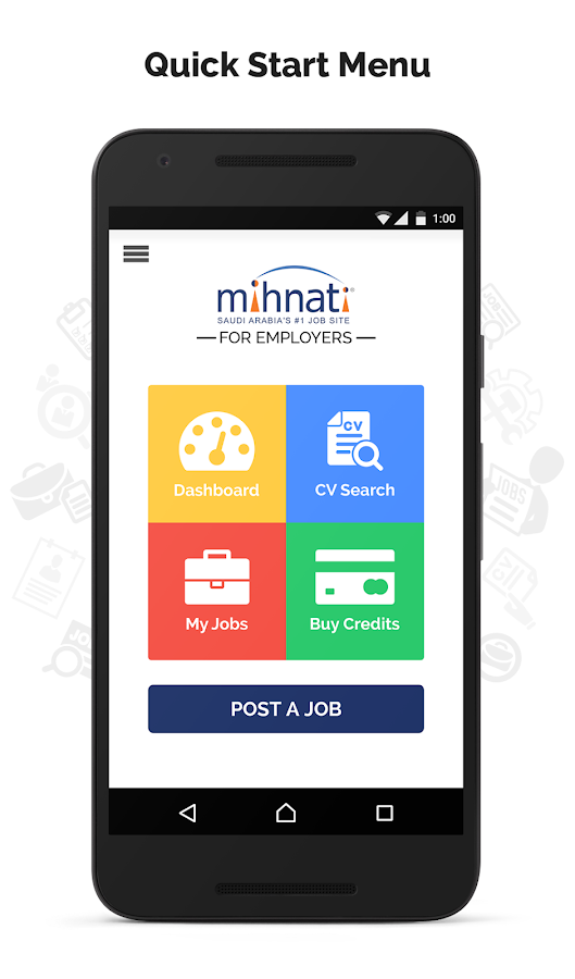 MIHNATI for Employers- screenshot