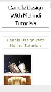 Candle Design Tutorials - náhled