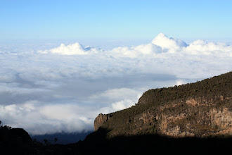 Photo: Finally...above the clouds!
