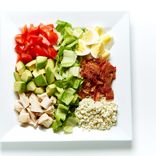 Chicken Cobb Salad with Thousand Island Dressing.