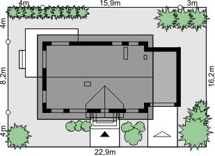 Dom przy Alabastrowej 14 - Sytuacja