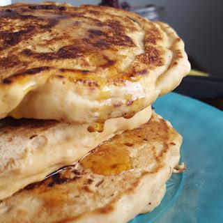 4-Ingredient Fluffy Vegan Protein Pancakes.