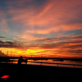 Sunsets by Md Zakir Hossain - Landscapes Sunsets & Sunrises ( sky, nature, colorful, dark, cheerful, river )