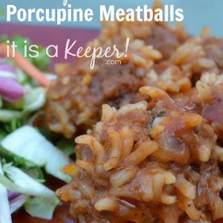 Chili-spiced Porcupine Meatballs