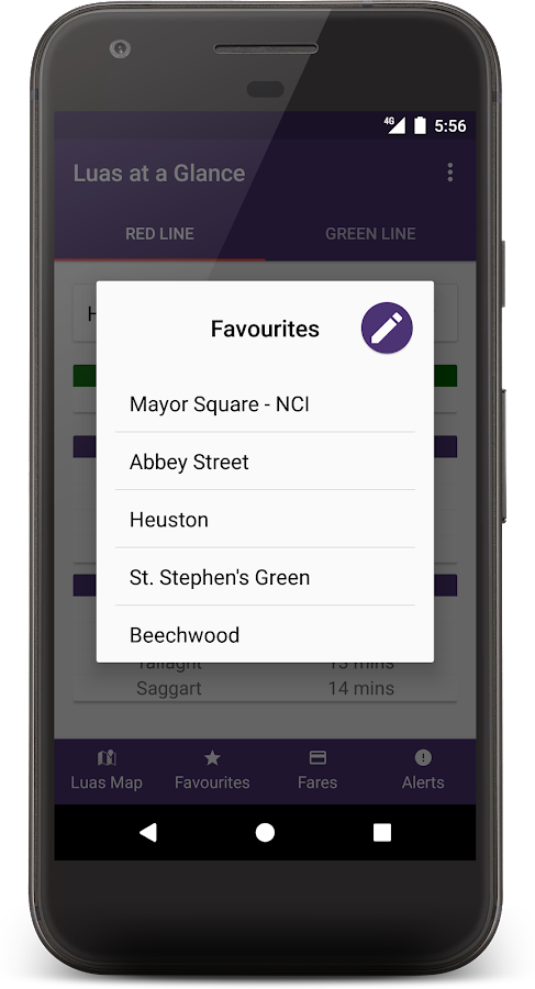 Luas at a Glance- screenshot