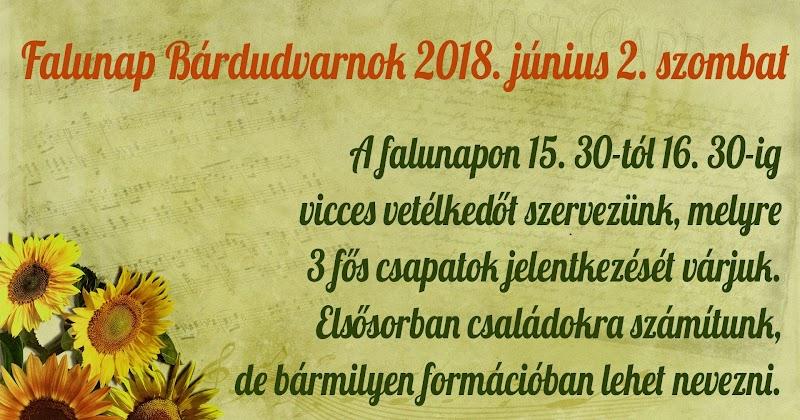 Falunapi vetélkedő 2018. június 2