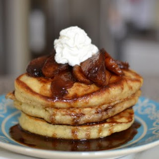 Buttermilk Pancakes with Brown Butter Apples