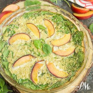 Apricot Spinach Quinoa Crustless Quiche.