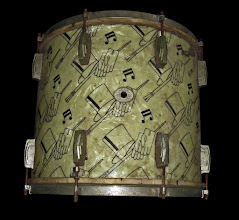 Photo: Old Ludwig floor tom with a pretty design - still has the original skin heads.