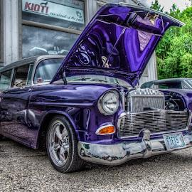 55 Handyman by Chris Cavallo - Transportation Automobiles ( car, wagon, vintage, station, purple, antique, car show )