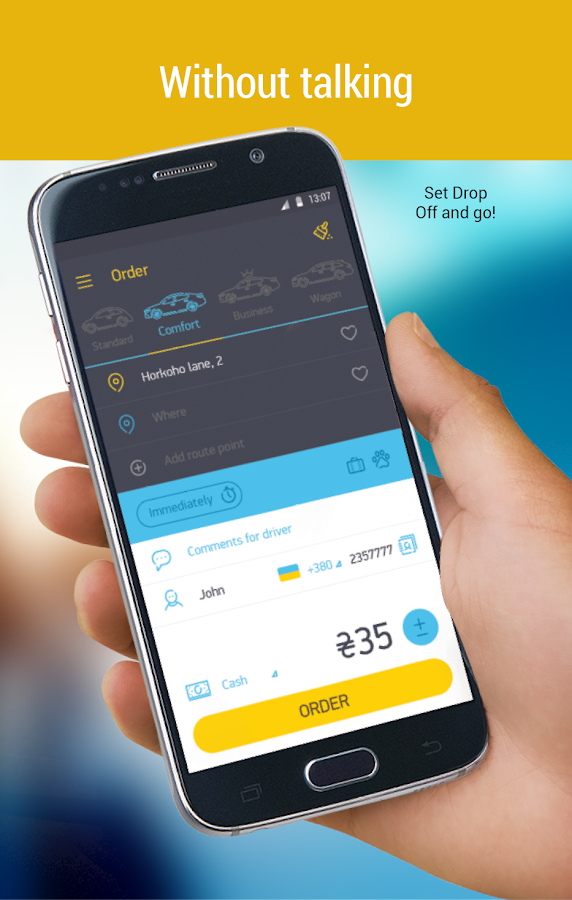 Uklon - Online Taxi App- screenshot