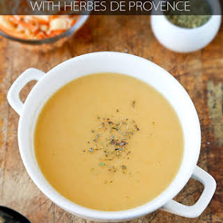 Parsnip Soup with Celery Root (and Herbes de Provence).