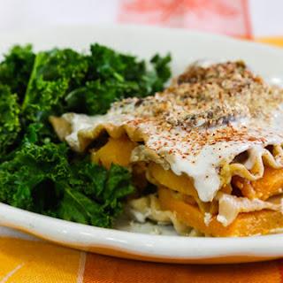 Roasted Sweet Potato and Mushroom Lasagna