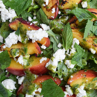 Grilled Peach Salad with Mint Dressing Recipe