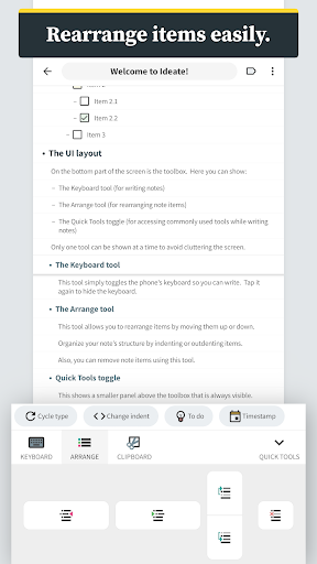 ideate - outlines, notes, tasks, and thoughts screenshot 3