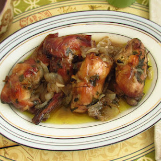 Roasted Rabbit In The Oven