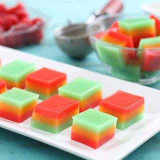 Rainbow Sherbet Jelly Shots