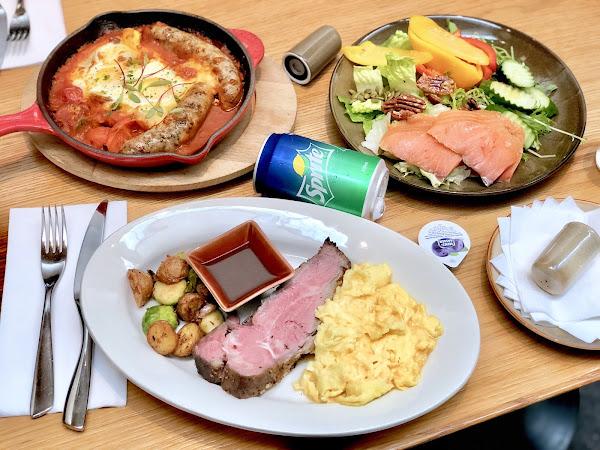 意舍que原木燒烤餐廳假日早午餐semi-buffet 17樓高空看盡台北風景