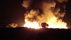 Imagen del incendio del pasado febrero en el asentamiento.