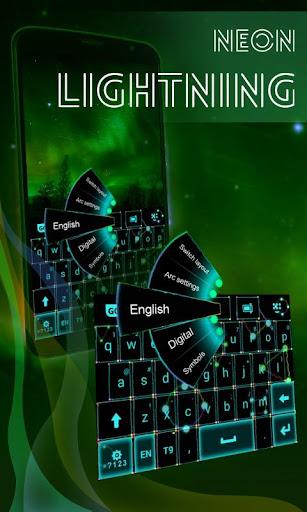 霓虹灯闪电键盘