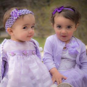 Wonder by Richard States - Babies & Children Child Portraits ( expression, look, babies, sisters, faces, pair, children, kids, eyes,  )