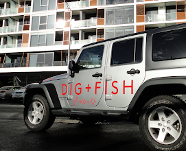 Photo: Dig + Fish Vehicle Branding #Jeep #vehiclebranding including spare wheel cover