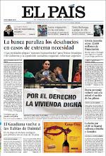 Photo: En la portada de EL PAÍS del 13 de noviembre: La banca paraliza los desahucios en casos de extrema necesidad; Grecia necesita otros 32.600 millones de financiación; Iberia pretende reducir casi a la mitad el sueldo de los pilotos. http://srv00.epimg.net/pdf/elpais/1aPagina/2012/11/ep-20121113.pdf