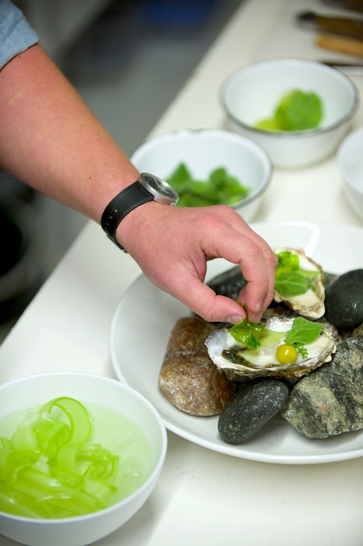 Oysters with young soutslaai