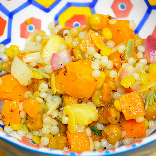 Israeli Couscous With Roasted Roots And Chickpeas