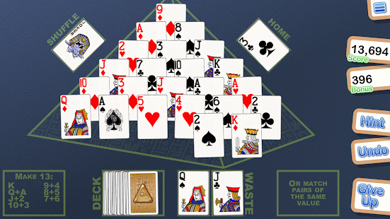 Crystal Pyramid Solitaire- screenshot thumbnail