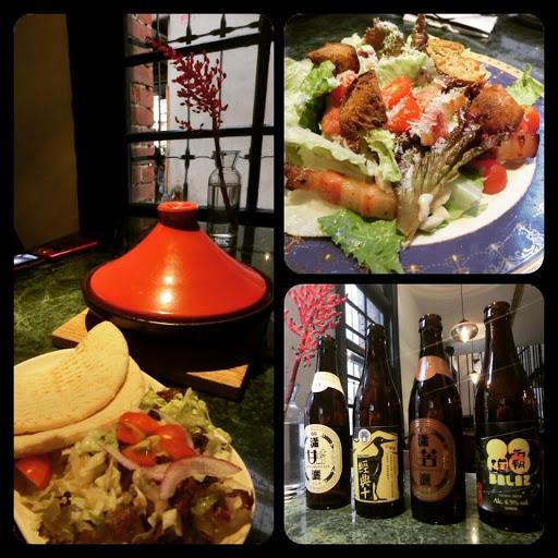 哈瑪星的好市集餐廳lebonmarche有非常好的用餐氣氛與服務,百年美麗的紅屋、跨國融合的廚藝。連凱薩沙拉裡的自製培根都如此對味,米其林快過來給顆星吧!