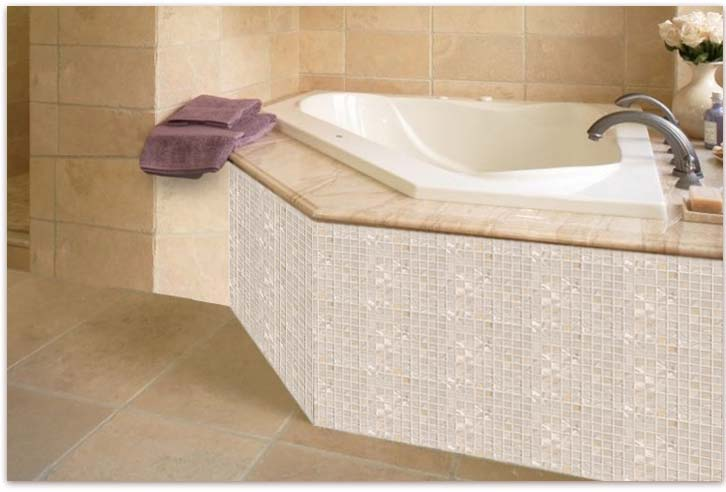 Home Elements Mother of Pearl Tile - Pearl glass mosaic tile, shell tiles, kitchen backsplash tile